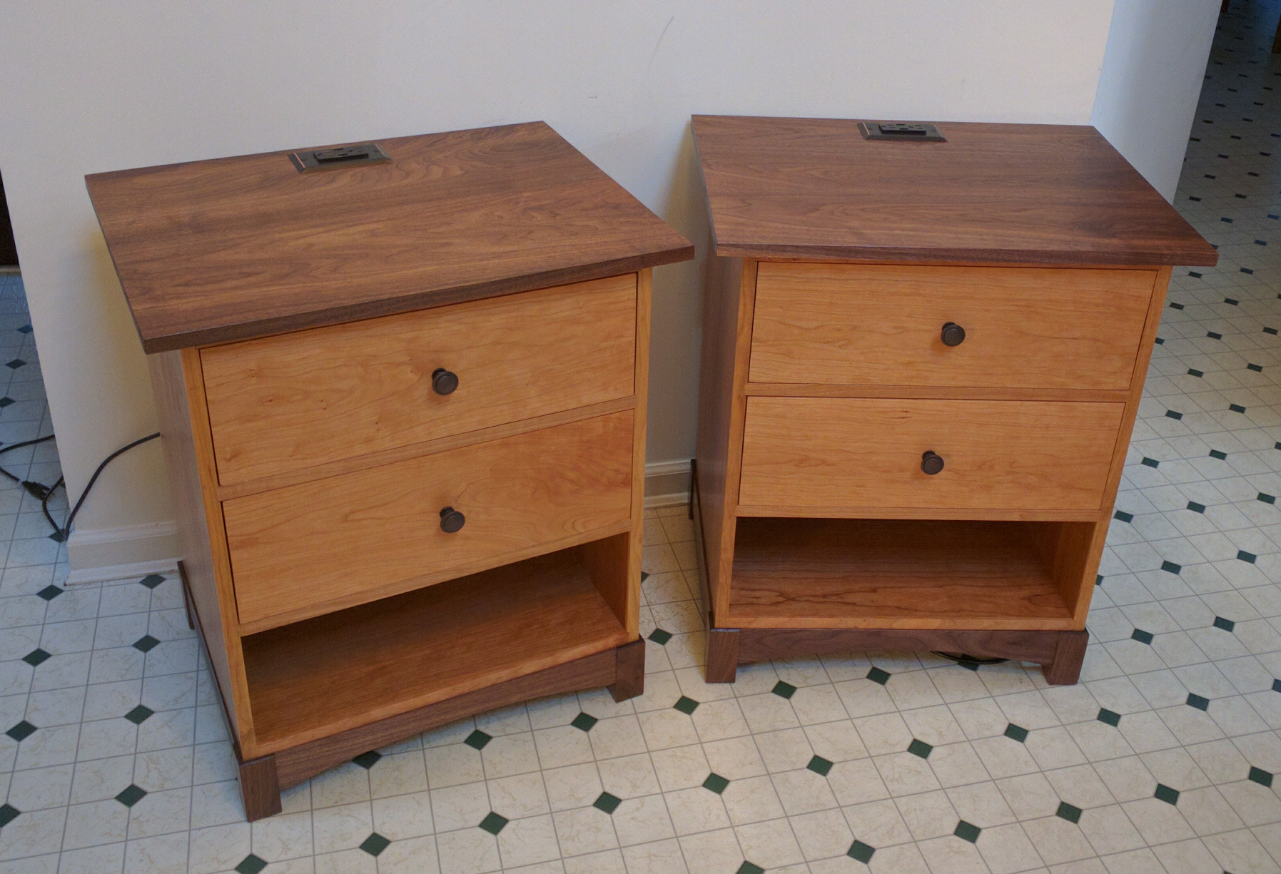 Cherry And Walnut Night Stand, Completion